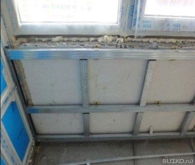 Утепление балкона фольгированной минеральной ватой от компан.