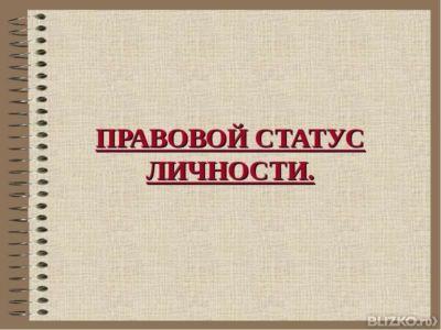 Курсовая работа Правовой статус личности от компании АННА  Курсовая работа Правовой статус личности