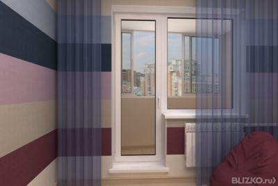 Фото объекта балконная дверь в современном интерьере, москва.